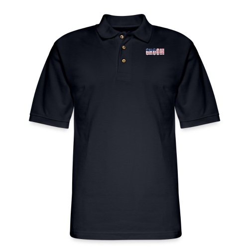 Groom US Flag - Men's Pique Polo Shirt