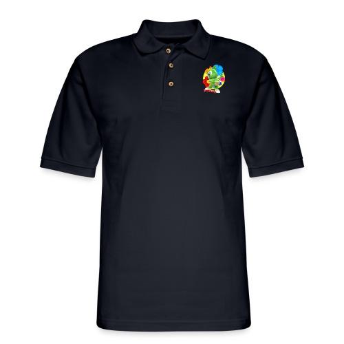 Gummibär Flowers - Men's Pique Polo Shirt