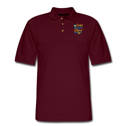 Grateful, Thankful & Blessed - Men's Pique Polo Shirt