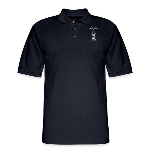Retro Spark - White - Men's Pique Polo Shirt