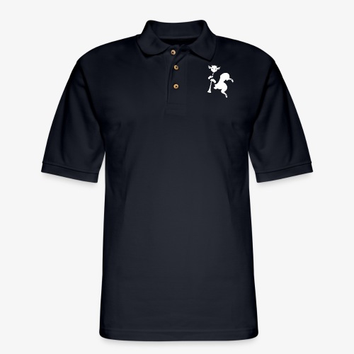 imagika white - Men's Pique Polo Shirt