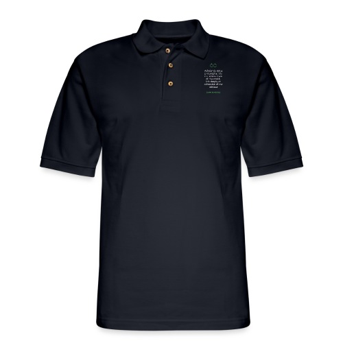 T Shirt Quote Atheism is not a philosophy Sam - Men's Pique Polo Shirt