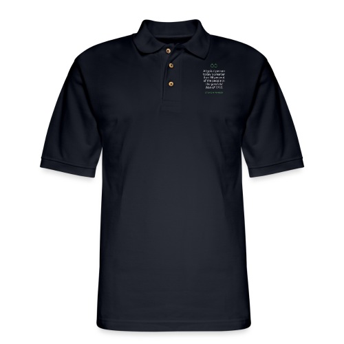 T Shirt Quote A typical person today Steven Pin - Men's Pique Polo Shirt