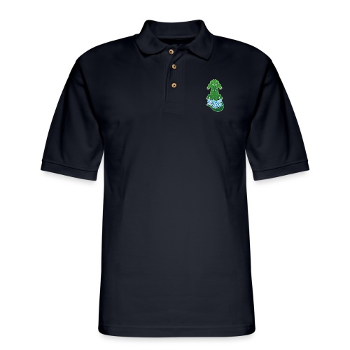Crocodile warning about not messing with his river - Men's Pique Polo Shirt