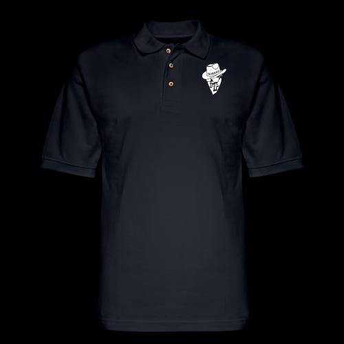 DREAM BANDITS WHITE Large Logo - Men's Pique Polo Shirt