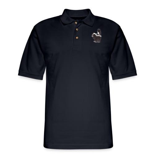 Cool cute funny Skunk - Men's Pique Polo Shirt