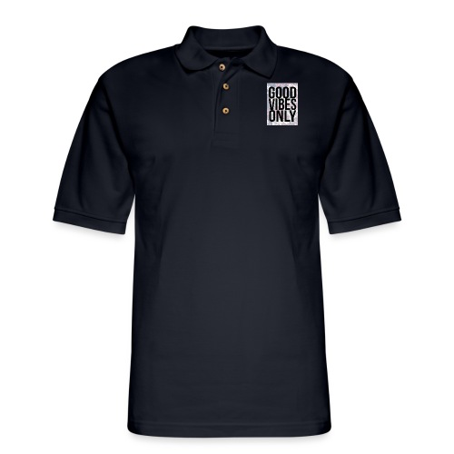 good vibes only oriental - Men's Pique Polo Shirt