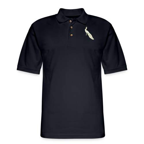 White peacock - Men's Pique Polo Shirt