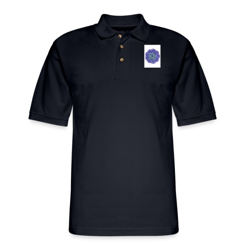 Purple mandala - Men's Pique Polo Shirt