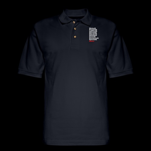 Discard to Reroll - Sides of the Die - Men's Pique Polo Shirt