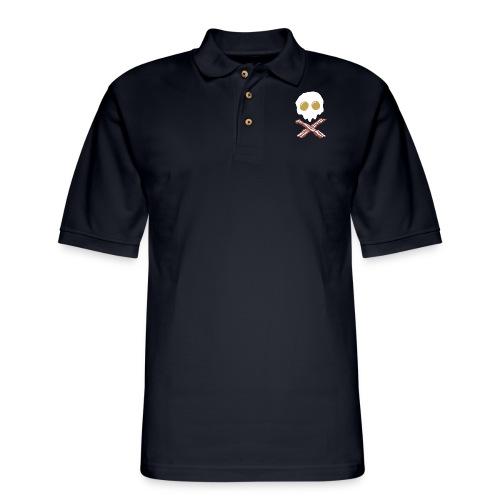 Breakfast Skull - Men's Pique Polo Shirt