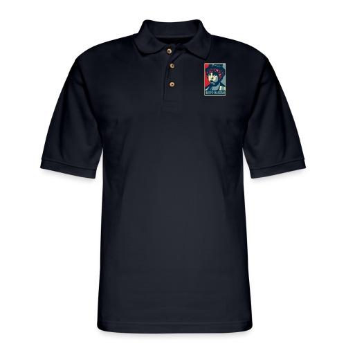 Harpo Marxism: parody of Obama poster - Men's Pique Polo Shirt