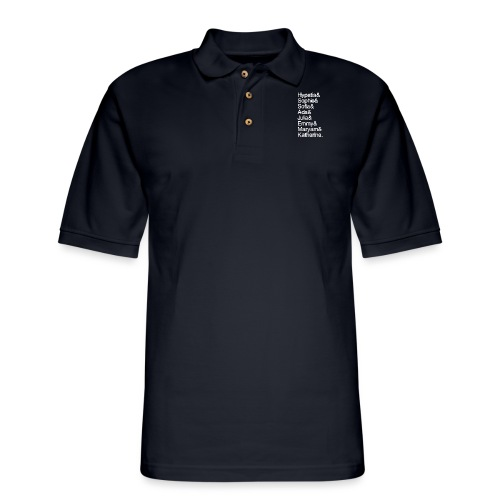 Women in Mathematics (no space before &) - Men's Pique Polo Shirt