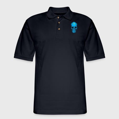Finally Skull Cyan - Men's Pique Polo Shirt