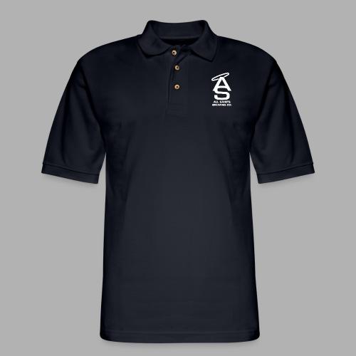AS Logo white - Men's Pique Polo Shirt