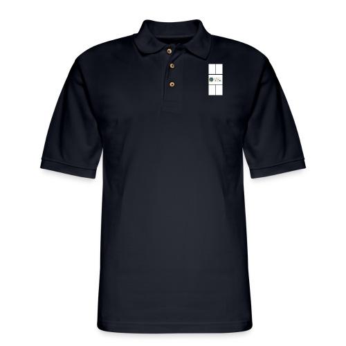 Global Pickleball Network Logo on White Court - Men's Pique Polo Shirt