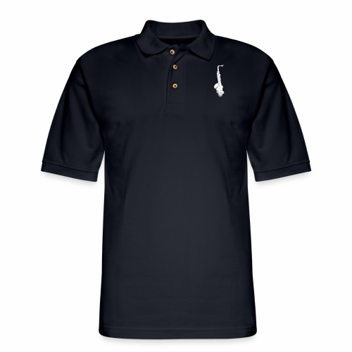 Tenor Saxophone · white rotate - Men's Pique Polo Shirt