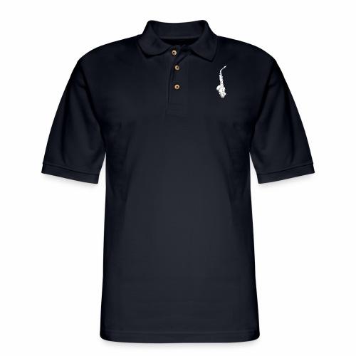 Alto Saxophone · white rotate - Men's Pique Polo Shirt