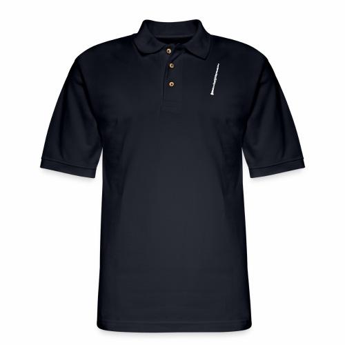 Clarinet · white, filled, rotate - Men's Pique Polo Shirt