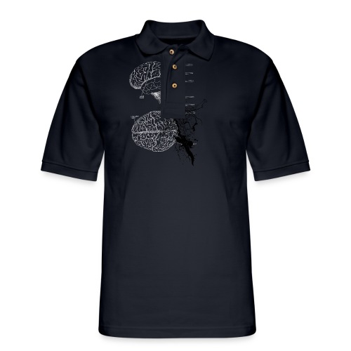 brain storm designer graphic - Men's Pique Polo Shirt