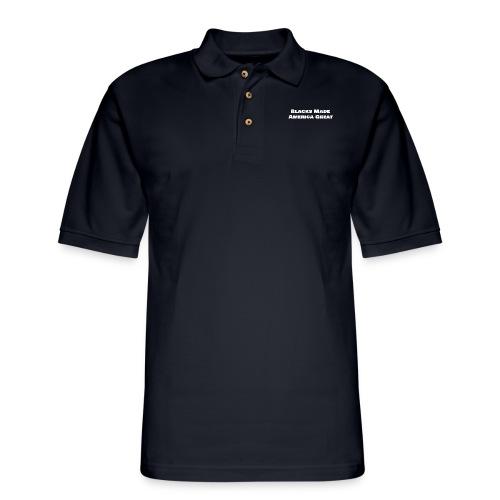 blacks_made_america2 - Men's Pique Polo Shirt