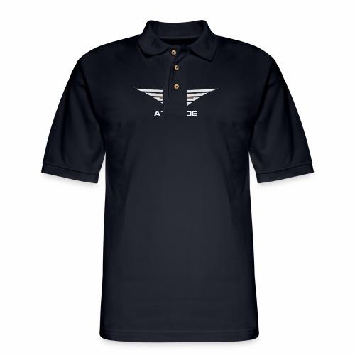 Attitude Double Sided - Men's Pique Polo Shirt