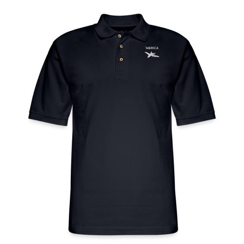'Merica: A10 Warthog - Men's Pique Polo Shirt