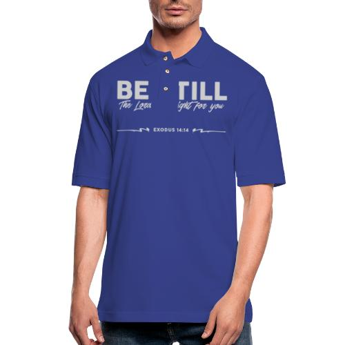 Be Still, the Lord will fight for you - Men's Pique Polo Shirt