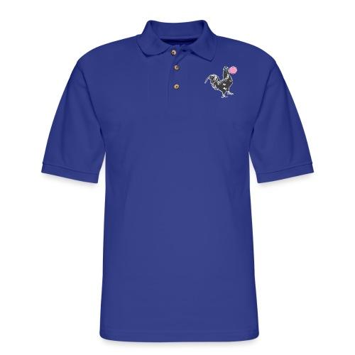 Chicken Chews Bubble Gum - Men's Pique Polo Shirt