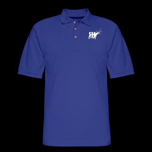 RKStudio White Logo Version - Men's Pique Polo Shirt