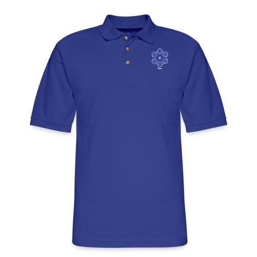 Aqua Water Element Alchemy Design - Men's Pique Polo Shirt
