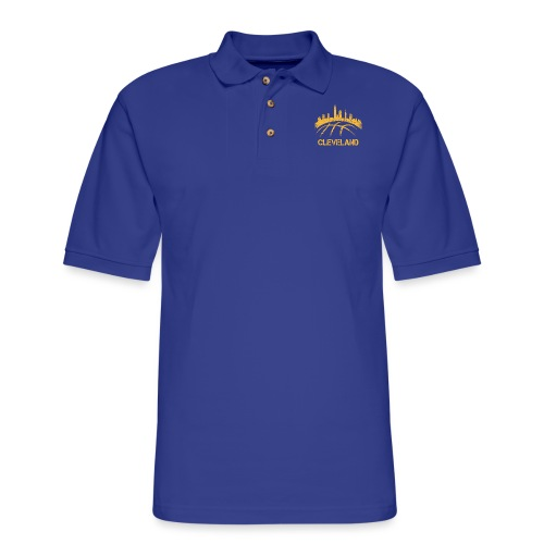 Cleveland Basketball Skyline - Men's Pique Polo Shirt