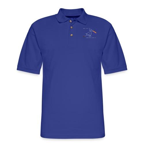 Skeeter The Duck Dark Side of the Poo - Men's Pique Polo Shirt