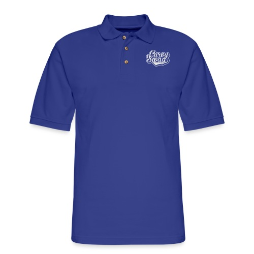 Curvy Swag Reversed Out Design - Men's Pique Polo Shirt