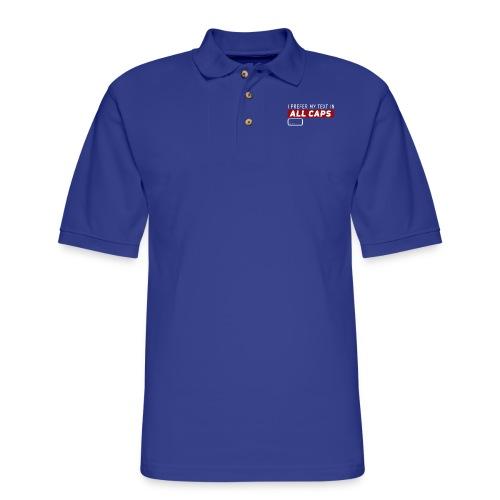All CAPS - Men's Pique Polo Shirt