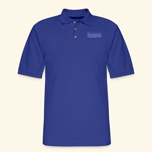 10 PRINT CHR$(205.5 RND(1)); : GOTO 10 - Men's Pique Polo Shirt