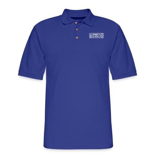 Gunpla 101 Men's T-shirt — Zeta Blue - Men's Pique Polo Shirt