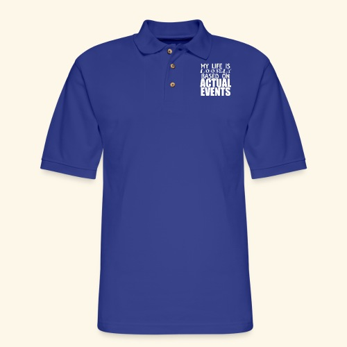 loosely based - Men's Pique Polo Shirt