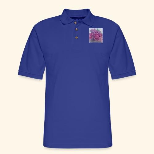 I love Lilacs - Men's Pique Polo Shirt