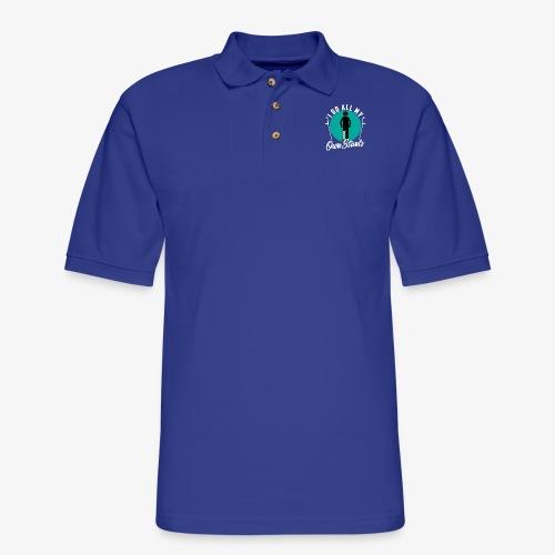 Funny I DO AL MY OWN STUNTS - Men's Pique Polo Shirt