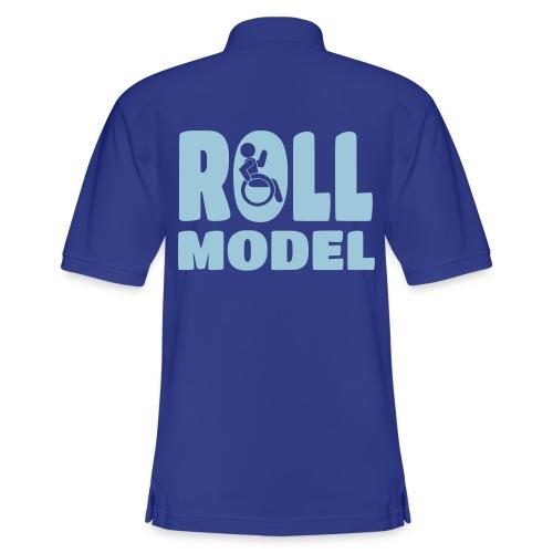 Wheelchair Roll model - Men's Pique Polo Shirt
