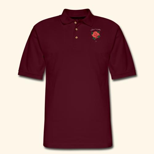 Rose LOGO - Men's Pique Polo Shirt