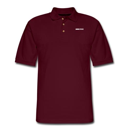 White Jakhia Spikes - Men's Pique Polo Shirt