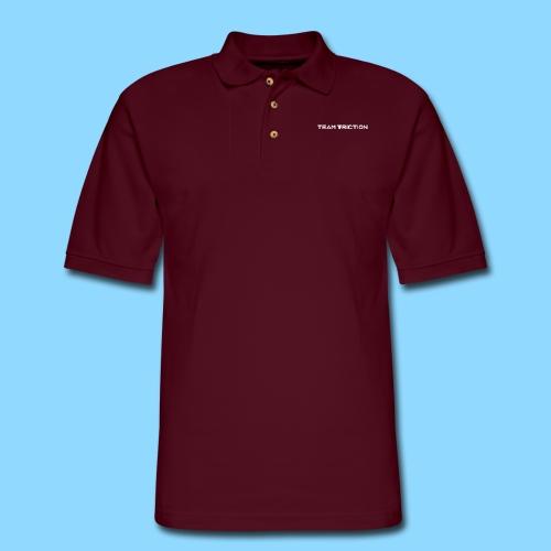 Patch Text Logo - Men's Pique Polo Shirt