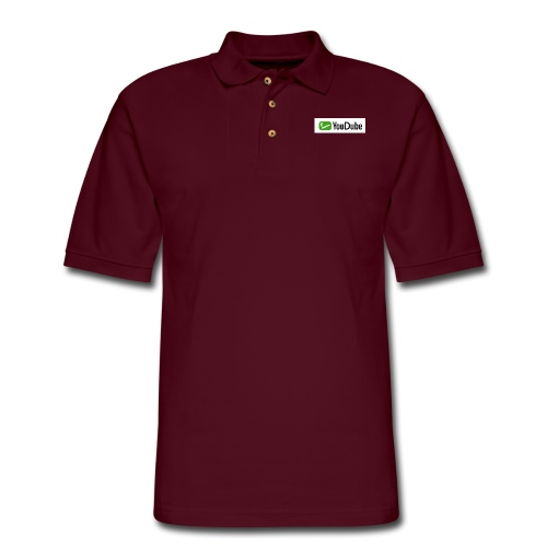 YouDube Logo - Men's Pique Polo Shirt