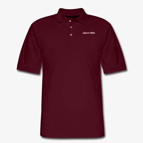 different media pink png - Men's Pique Polo Shirt