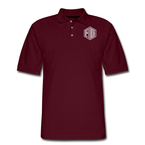 Blackout // WHITE Brand Logo > BLACK - Men's Pique Polo Shirt