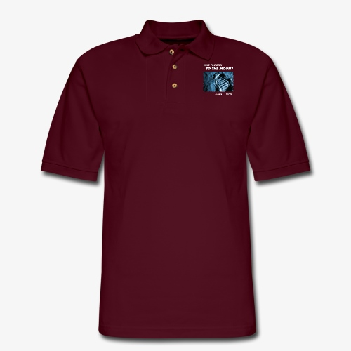 Solar System Scope : Have you been to the Moon - Men's Pique Polo Shirt