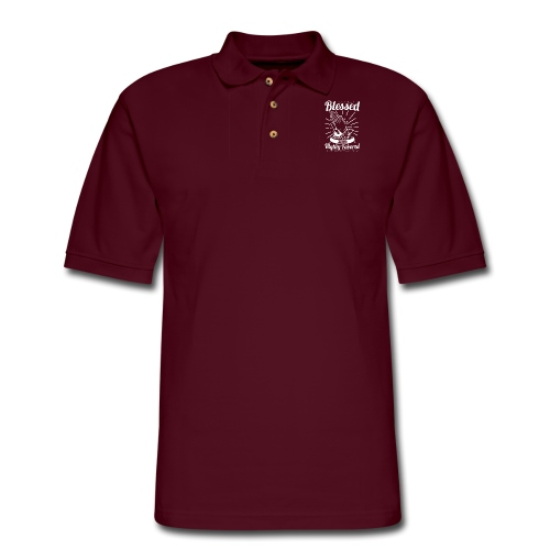 Blessed And Highly Favored (Alt. White Letters) - Men's Pique Polo Shirt