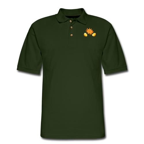 splash print design - Men's Pique Polo Shirt